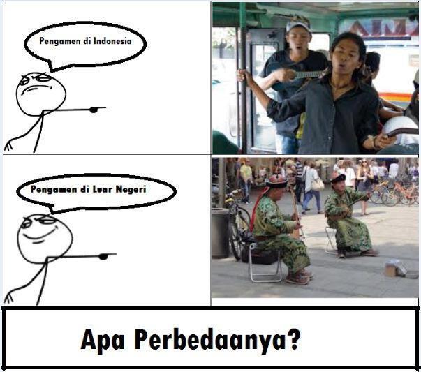 apa perbedaan antara pengamen di indonesia dan pengamen di luar negri