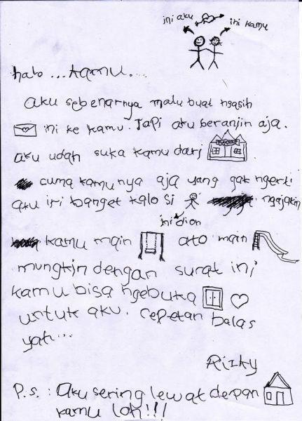 Surat Cinta anak TK.!