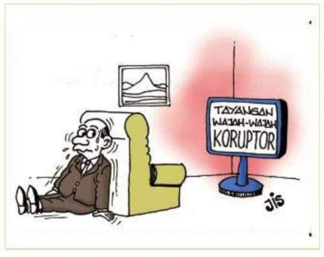 koruptor nya takut padahal sendirian
