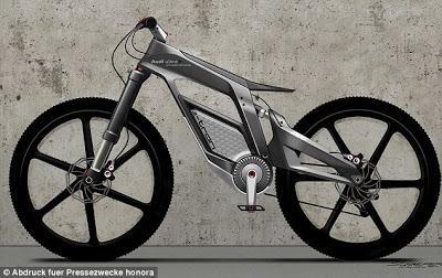 Audi Memperkenalkan Konsep Sepeda Listrik Yang Bisa Mencapai 50Mph