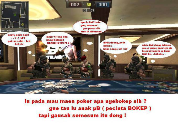 plesetan point blank... hahahah wow yea..