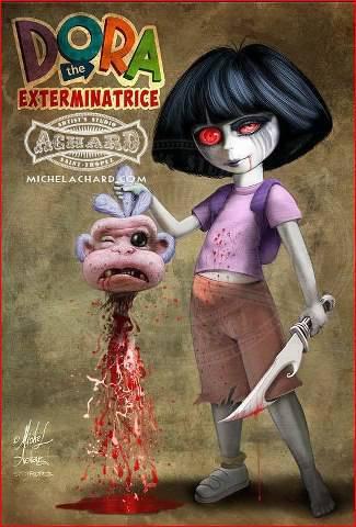 Biasanya Kan film DORA kan ramah ,, tapi kali ini dia THE EXTERMINATRICE Menakutkan ya GAN .. :D