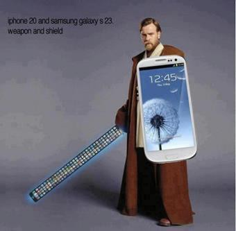 iphone 20 (not 5) as the weapon and Galaxy S3 as the shield www.solusi88.co.nr