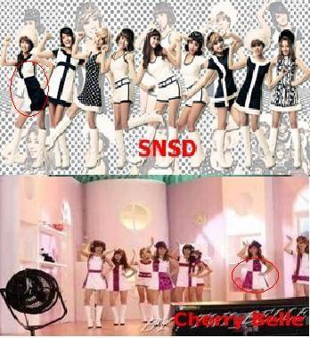 inilah bukti (100 % ASLI ) bahwa cherrybelle plagiat SNSD!!! super PLAGIAAAAAT!!!!!!