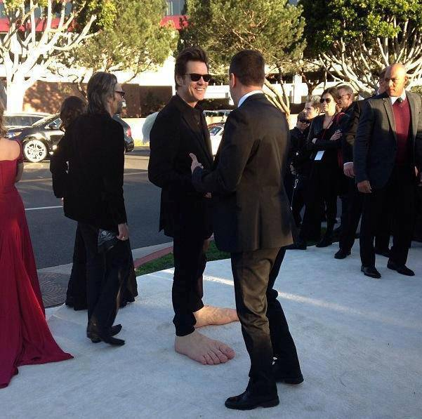 Jim Carey at the pre Oscar viewing party