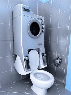 closet ini sekaligus mesin cuci lho....!!! wow nya dong!!!