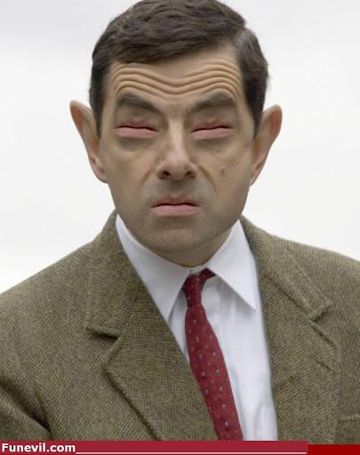Mr Bean Lips as eyes , hwkwkwkwkwk