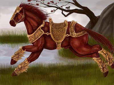 Kuda tercepat dibumi Red Hare yg dari Dong Zhuo->Lu Bu->Cao Cao->Guan Yu mampu menempuh 418km/hari! wow ya! dan follow gw di PULSK