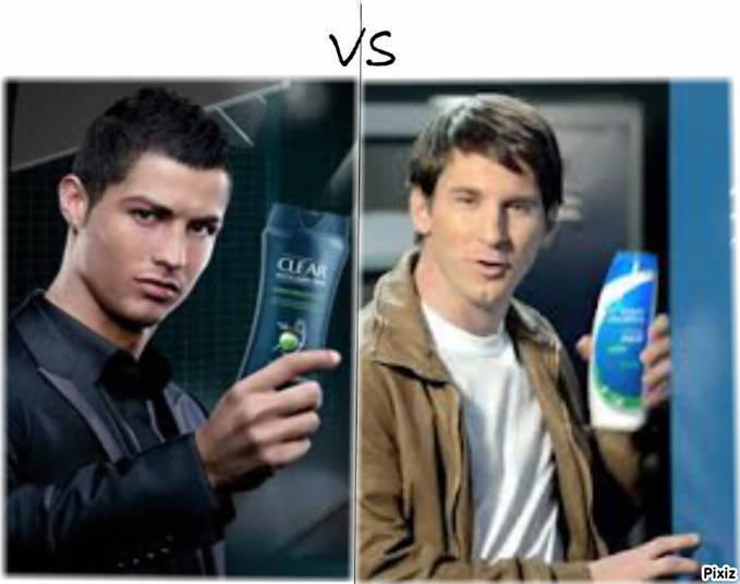 Bukan hanya dilapangan, di iklan shampoo anti ketombe mereka juga menjadi Rival Wow nya dong