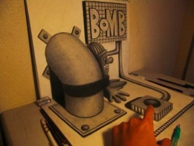 hasil kreasi 3D dr sketsa pensil
