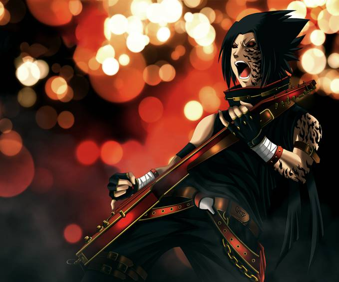 sasuke rock n roll.menurut kalian keren nggak klo sasukenya begini?jangan lupa pencet wownya