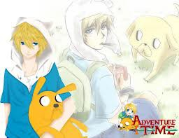 buat yang suka sama Adventure Time, !! ini versi anime nya :D, kalian lebih suka yang mana ??, yang versi anime atau versi yang biasa ?? !! :D