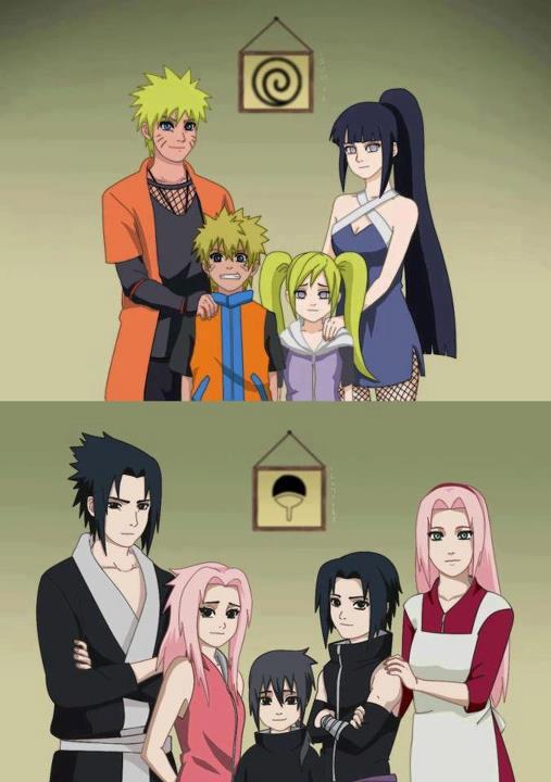 Keluarga besar Naruto dan Sasuke after merried !!! Tentram ya ngeliatnya :D