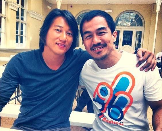 Ini dia foto Joe Taslim Bareng Sungkang (Han) di sela sela syuting film The Fast & Furious 6 keren gak..?