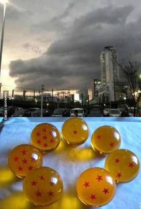 Apabila 7 Dragon Ball Di himpunkan.... datang Naga hehehe Wow