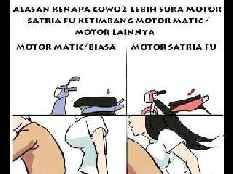 Alasan kenapa cowok lebih suka motor SATRIA FU ketimbang motor MATIC & motor lainnya