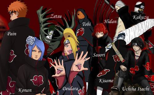 Siapakah yang kalian suka dari semua Anggota Akatsuki !! :D