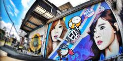 Ulang Tahun Taeyeon, Fans Indonesia Buat Graffiti Raksasa