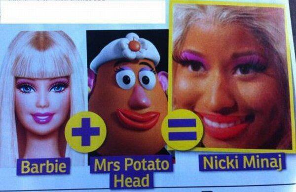 BARBIE + Mrs. Potato Head = Nicki Minaj