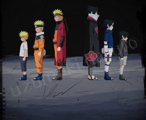 How Naruto & Sasuke Grows !! :D