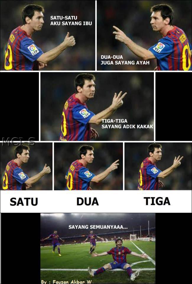 Messi Nyanyi lagu Indonesia XD