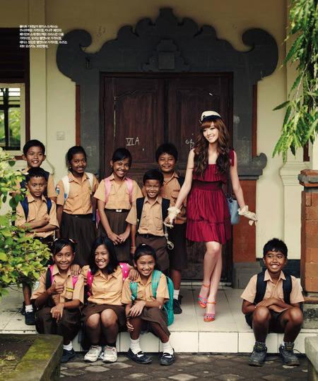 WOW! Jessica salahsatu personil SNSD pernah mengunjungi sekolah Di BALI saat dia beribur ke pulau dewata tsb~ nih foto nya