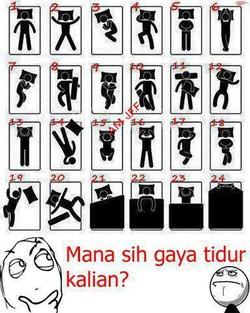 yang mana gaya tidurr kalian ??? sebelum comen wow dulu ya !!!