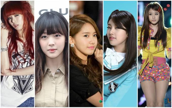 Yoona.Suzy.Jiyeon.Sulli.Hyuna