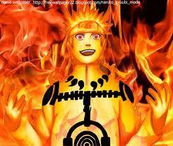 Ininih,Gambar Naruto Waktu dah Ngambil chakra Kyuubi/Kurama