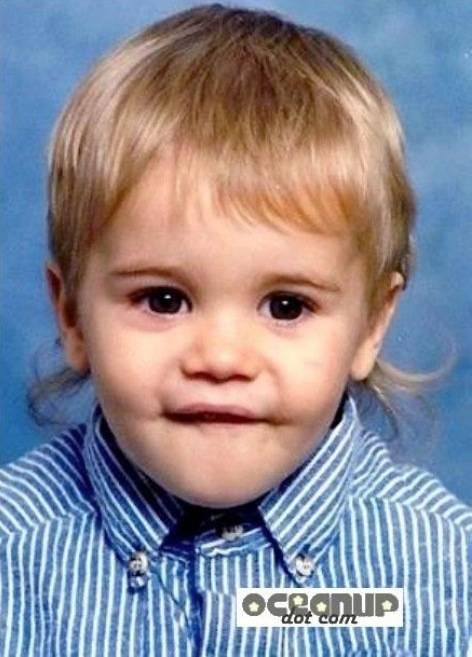 Haha, Fotonya Justin Bieber / JB saat Ia masih Bayi ! Lucuu ya ~