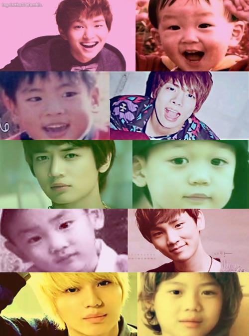 Muka SHINEE saat kecil mirip ya ama sekarang ^^ WOW nya mana ShaWol???