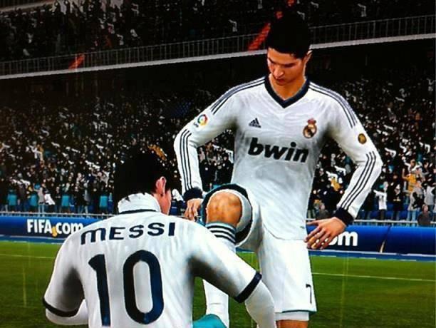 C.Ronaldo : Ayo Cepet Yang Bersih... Tessi : Iya Boss...!