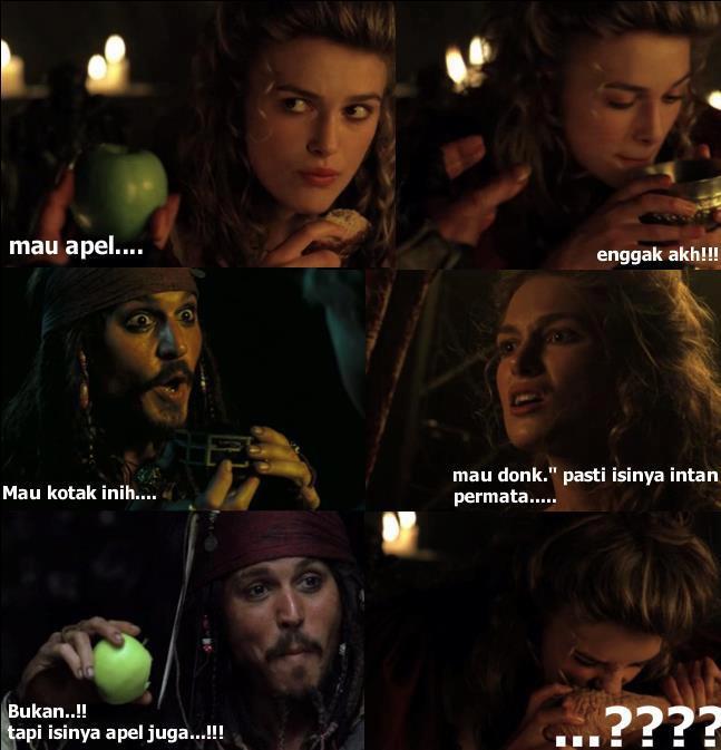 kocak..ini film pirates of caribean...wow ya