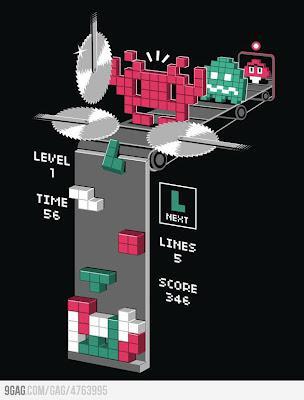 Beginilah cara kerja game tetris.