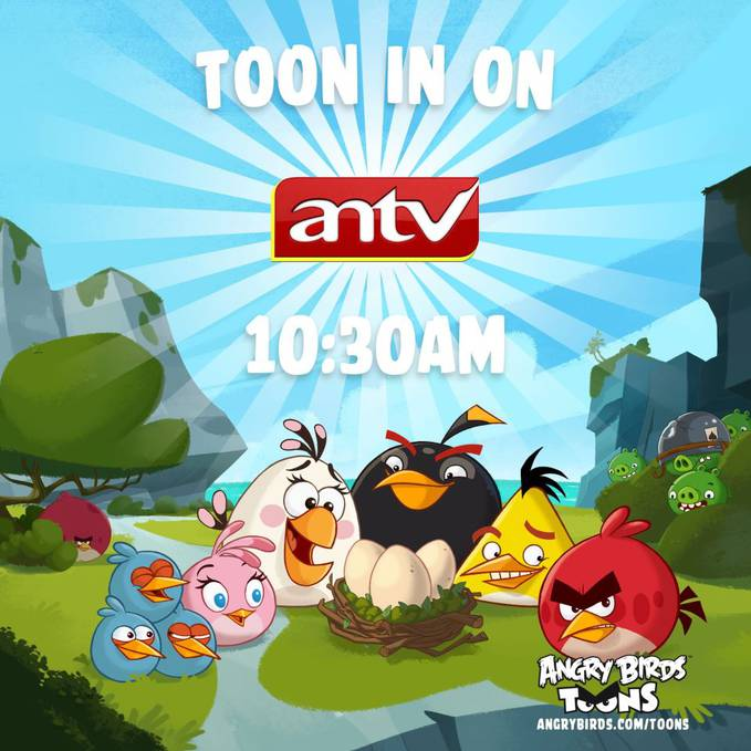 Angry Birds Toons airing on ANTV in Indonesia at 10.30AM on Saturday! click WOW ok