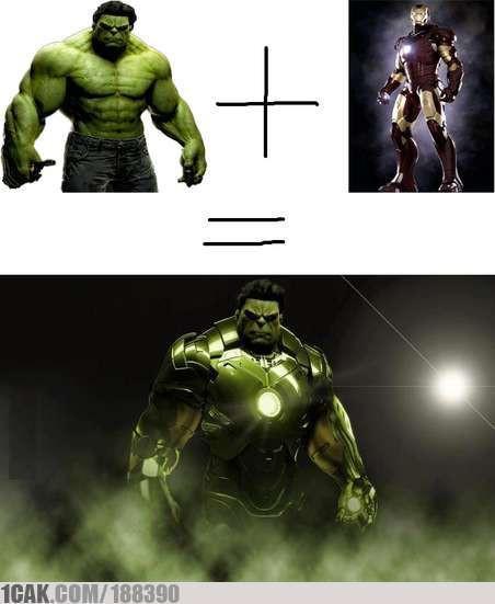 Hulk + IronMan=IronHulk