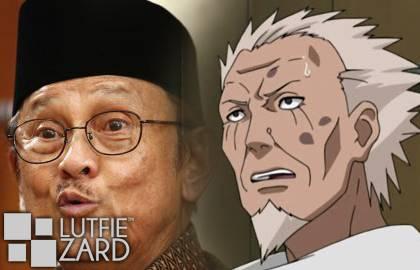 "Hokage Ketiga Prof.BJ.Habibie dikenal sebagai Presiden yang paling pintar. Sarutobi, adalah Hokage yang mempunyai julukan ""The Professor"", karena mengetahui & menguasai segala jurus di Konoha"