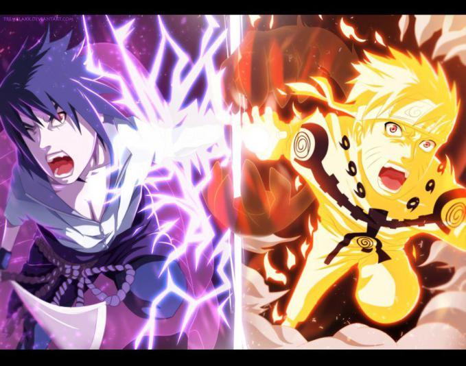 Naruto Uzumaki And Uchiha Sasuke