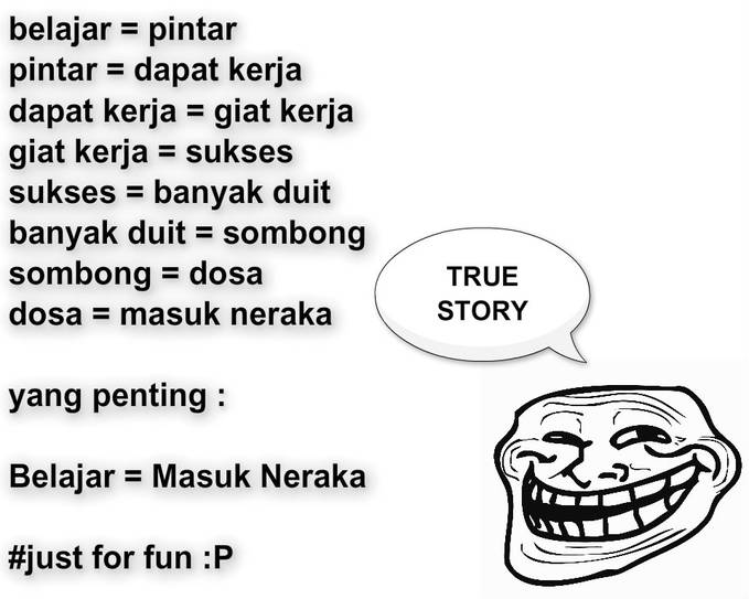 TROLL SAID : TRUE STORY