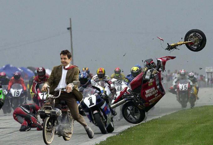 Mr. Bean Motorcycle Race... hahahaha...LoL