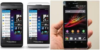 hmm pilih yang mana yaa?? sony X peria Z atau blackberry Z10? jangan lupa WOWnya ya :D