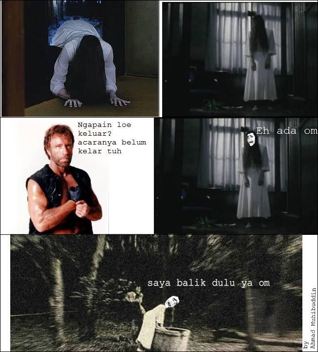 Ketika Sadako bertemu Chuck Norris