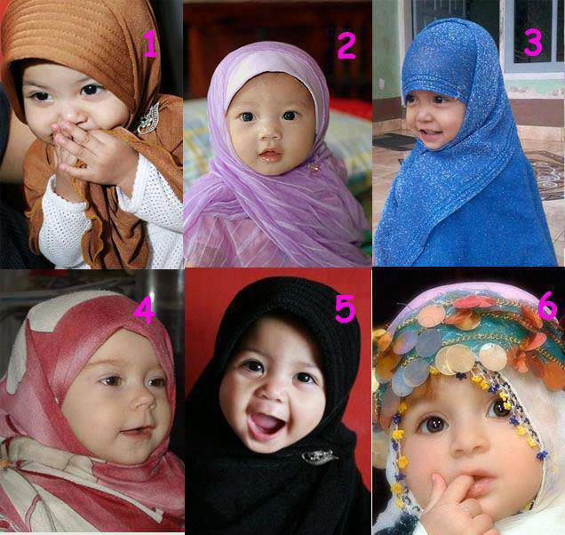 Assalamualaikum ukthi... :) lagi pada ngapain nih? Ini ada 6 dedek perempuan nih... yang mana yang menurut kamu paling lucu dan menggemaskan??^^ A. No 1 B. No 2 C. No 3 D. No 4 E. No 5 F. No 6