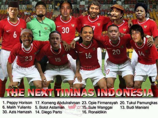 Inilah dia timnas INDONESIA yang baru bentukkan pelatih RD (Robi Dwi) atau saya hehehehheheh :D