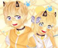 Ini salah satu personil Band Manga Vocaloid.Si kembar Rin dan Len Kagamine (RinLen Kagamine/kagamine RinLen yg unyu ini kembar cewe cowo loh.Bisa gitu ya.