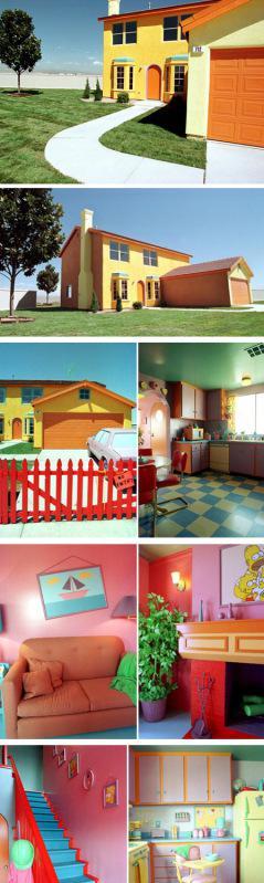 The Simpson House Rumah ini persis dengan di dalam kartun Simpson baik luar maupun dalamnya dan terletak di Henderson, Nevada, Amerika