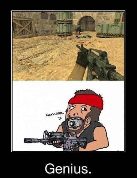 tau gk sebenernya kamera di game counter strike di taroh kaya gini... kwkwkwkwkwk wow nya yaa.....