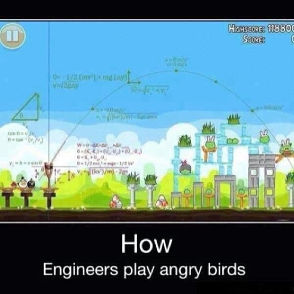 Main Angry Bird seharusnya seperti ini kalo mau akurat