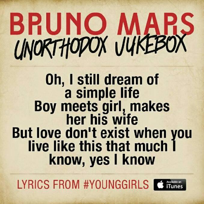 Bruno Mars - Young Girls #Lyrics
