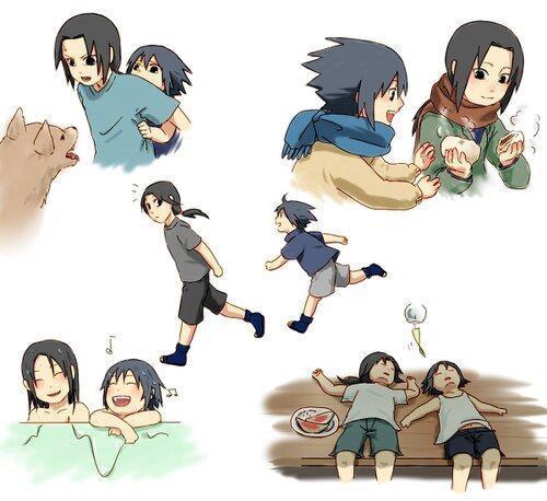 wah...jika diliat maka masa kecil kecil sasuke sangat bahagia ya... setuju=WOW